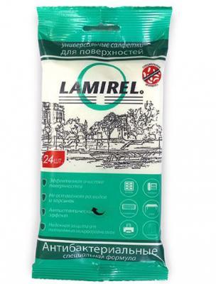 Влажные салфетки Fellowes Lamirel LA-61617(01) 24 шт влажные салфетки fellowes lamirel la 21617 01 24 шт