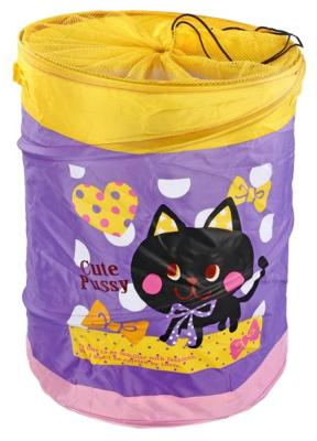 Корзина без крышки Shantou Gepai Котенок текстиль фиолетовый
