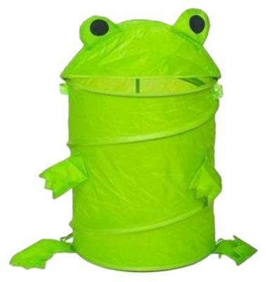 Корзина с крышкой Shantou Gepai Лягушонок нейлон зеленый J-3