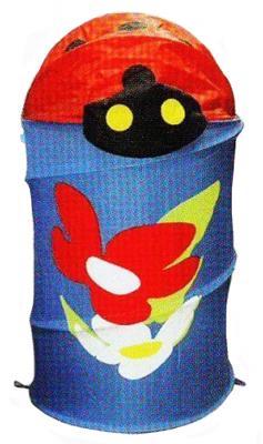 цена на Корзина с крышкой Shantou Gepai Божья коровка текстиль синий