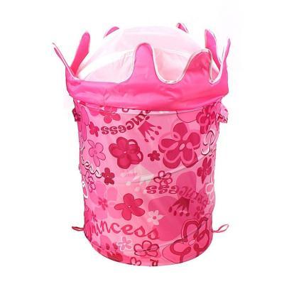 Корзина с крышкой Shantou Gepai Принцесса полиэстер розовый