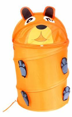 Купить Корзина с крышкой Shantou Gepai Тигр текстиль оранжевый, Хранение игрушек
