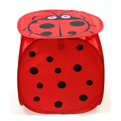 Купить Корзина для игрушек Shantou Gepai Божья коровка 45*45 см J-145, красный, текстиль, Хранение игрушек