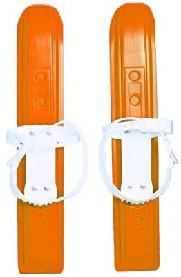 Мини-лыжи Пингвин Юниор с пластиковым креплением- оранжевые 3753