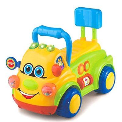 Каталка-машинка Shantou Gepai Веселая машинка пластик от 1 года на колесах разноцветный  BB371A каталка shantou gepai морской конек zya a0347