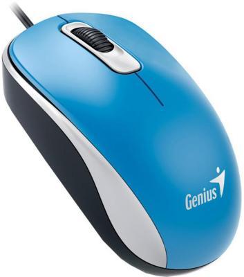 Мышь проводная Genius DX-160 голубой USB мыши genius проводная оптическая мышь dx 130