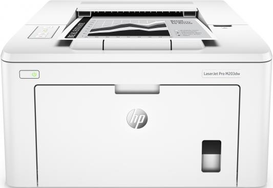 Принтер HP LaserJet Pro M203dw G3Q47A ч/б A4 28ppm 1200x1200dpi 256Mb USB Ethernet Wi-Fi