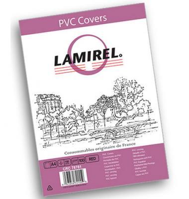 Фото - Обложка Fellowes Lamirel A4 красный 100шт LA-7878101 la cura