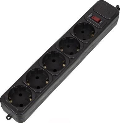 Сетевой фильтр PCPet AP01006-E-BK черный 5 розеток 1.8 м сетевой фильтр pc pet ap01006 1 8 bk 1 8м черный