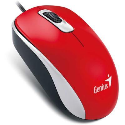 Мышь проводная Genius DX-160 красный USB мышь проводная genius dx 100x голубой белый usb