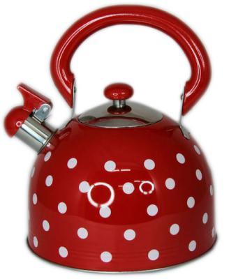 Чайник Wellberg WB-5875 красный 3 л металл