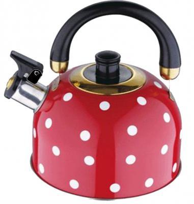 Чайник Wellberg WB-6182 красный 2 л нержавеющая сталь