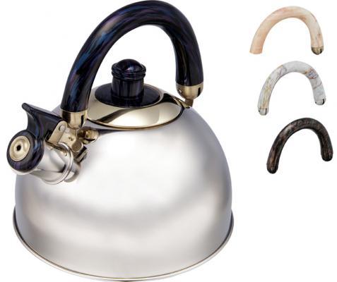 Чайник Wellberg WB-9460 серебристый чёрный 3 л нержавеющая сталь