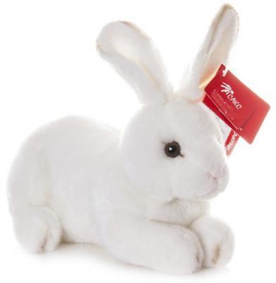 Мягкая игрушка Aurora Кролик плюш белый 25 см