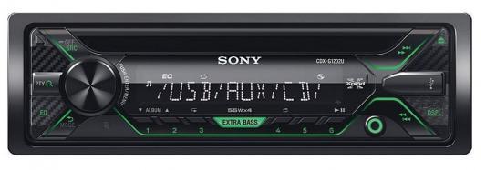 Автомагнитола SONY CDX-G1202U USB MP3 CD FM 1DIN 4x55Вт черный
