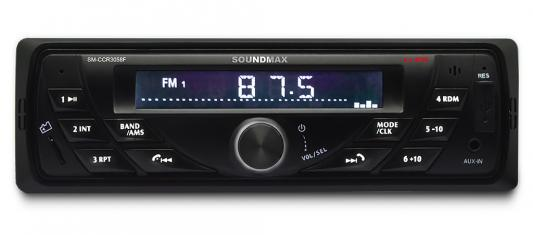 Автомагнитола Soundmax SM-CCR3058F USB MP3 FM SD MMC 1DIN 4x40Вт черный