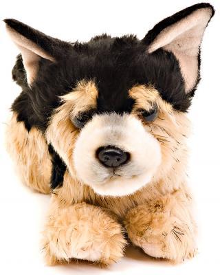 Мягкая игрушка щенок Aurora Немецкая Овчарка искусственный мех черный 22 см