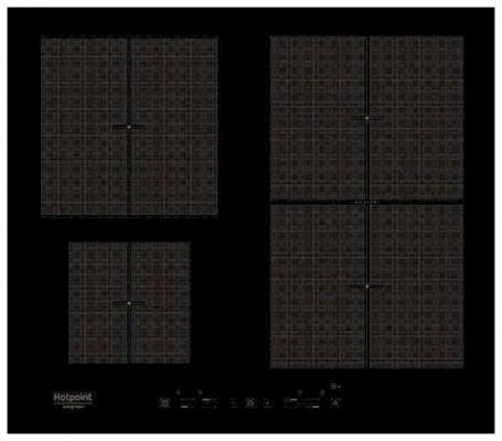 Варочная панель электрическая Ariston KIT 641 F B черный