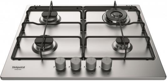 Варочная панель газовая Ariston THC 642 W/IX/HA EE серебристый цена
