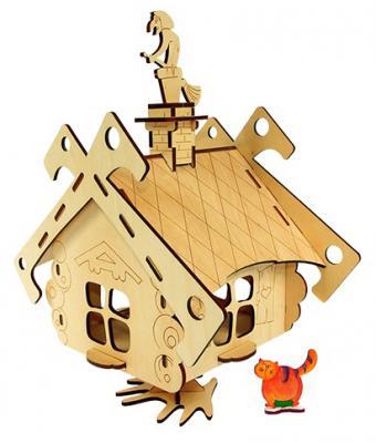 Деревянный конструктор WOODY Избушка на курьих ножках 21 элемент  136 конструкторы woody дом дерево для лешиков 22 элемента