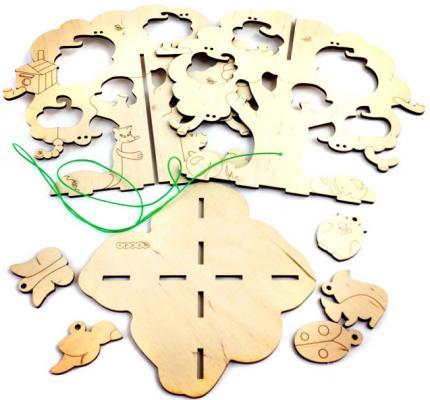 Деревянный конструктор WOODY Дерево желаний 8 элементов 792 деревянный конструктор дерево кря юный строитель 5 dk 005 96 элементов