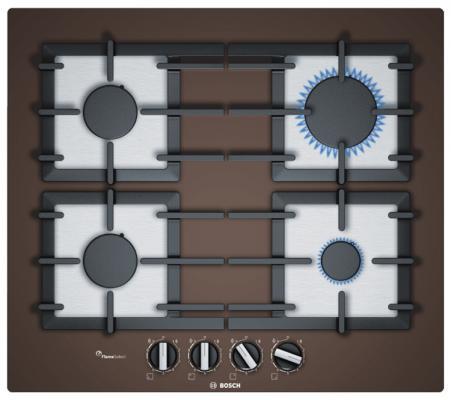 Варочная панель газовая Bosch PPP6A4B90R коричневый варочная панель bosch pkf651fp1e