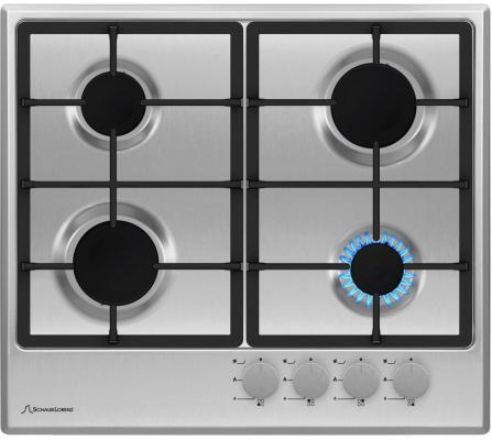 Варочная панель газовая Schaub Lorenz SLK GE6210 серебристый