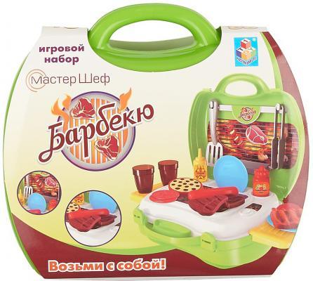 Игровой набор 1toy Мастер-Шеф - Барбекю 23 предмета Т59010 1 toy игровой набор в чемоданчике мастер шеф барбекю 23 предмета