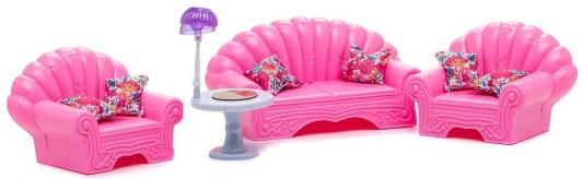 Набор мебели 1Toy Красотка - Гостиная с мебелью в ассортименте Т52119 1toy с мебелью 187 деталей красотка