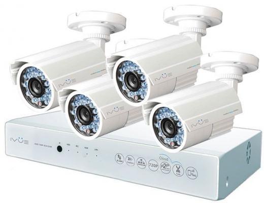 Комплект видеонаблюдения IVUE D5004 AHC-B4 4 внутренние камеры 4-х канальный видеорегистратор цена