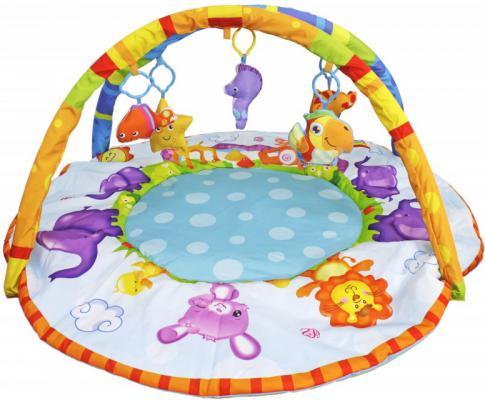 Развивающий коврик S+S Toys BAMBINI с дугой:веселые зверюшки СС76749 игрушка s s toys bambini 2 в 1 развивающий телефон и пианино сс76752