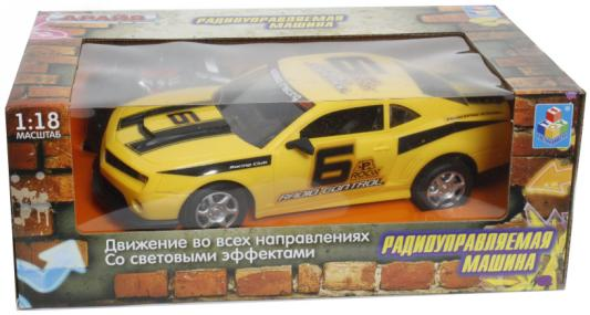 Машинка на радиоуправлении 1toy Драйв пластик от 3 лет желтый машинка на радиоуправлении 1toy раллийная пластик металл сине черный
