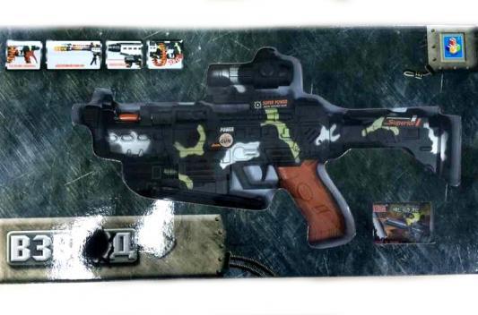 """Автомат 1TOY """"Взвод"""" черный  автомат пулемет 1toy т58356 камуфляж"""