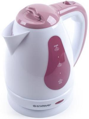 Чайник ENDEVER Skyline 351-KR 2100 Вт белый бордовый 1.8 л пластик чайник endever skyline 351 kr 2100 вт белый бордовый 1 8 л пластик