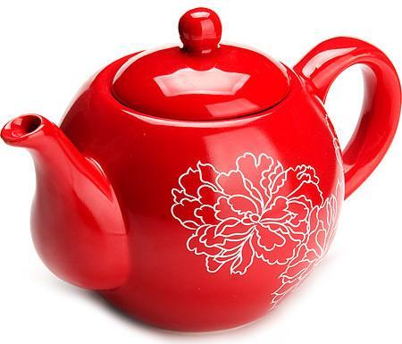 Чайник заварочный Loraine LR-25839 красный 0.95 л керамика