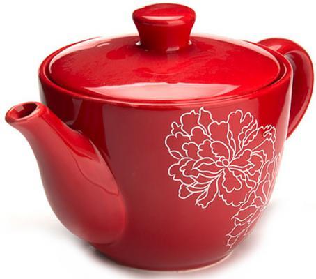 Чайник заварочный Loraine LR-25840 красный 0.9 л керамика