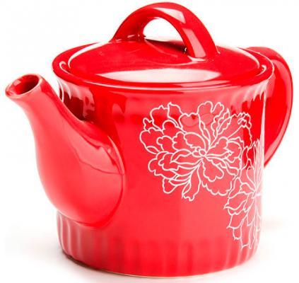 Чайник заварочный Loraine LR-25841 красный 0.73 л керамика