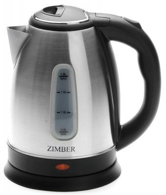 Чайник Zimber ZM-11134 1500 Вт серебристый чёрный 1.8 л металл