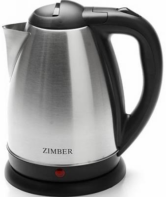 Чайник Zimber 11068-ZM 1500 Вт серебристый чёрный 1.5 л нержавеющая сталь