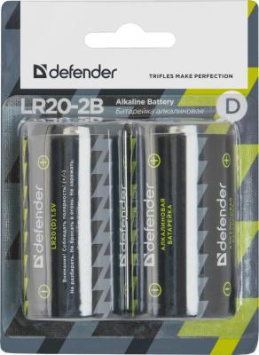 Батарейки Defender LR20-2B 2шт 56022