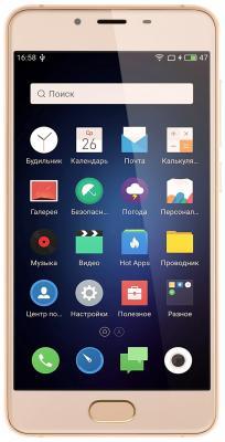 Смартфон Meizu U10 золотистый 5 32 Гб LTE Wi-Fi GPS 3G U680H-32-G смартфон meizu u20 32 gb rose gold white