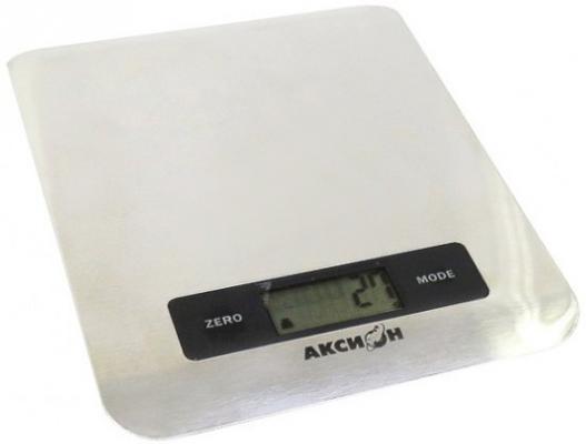 Весы кухонные Аксион ВКЕ-22 серебристый вафельница аксион в21 серебристый