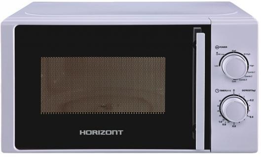 СВЧ Horizont 20MW700-1478BIW 750 Вт серебристый
