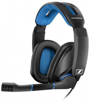 Наушники с микрофоном Sennheiser GSP 300 черный/синий 2.5м накладные оголовье (507079) sennheiser sennheiser cx213 модный наушник уха стерео наушник уха синий