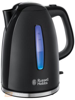 Чайник Russell Hobbs 22591-70 2400 Вт чёрный 1.7 л пластик russell athletic повседневные брюки