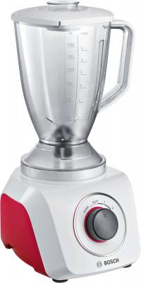 Блендер стационарный Bosch MMB21P0R 500Вт белый красный серый блендер стационарный bosch mmb21p0r 500вт белый красный серый