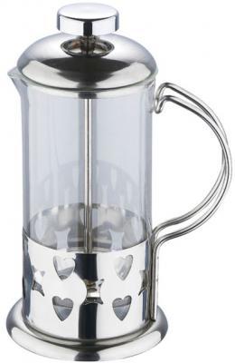 Френч-пресс Wellberg WB-6980 серебристый 0.35 л металл/стекло