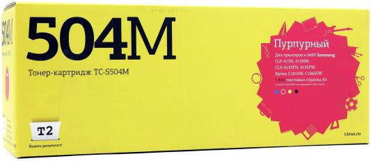 Картридж T2 TC-S504M CLT-M504S для Samsung CLP-415/CLX-4195/Xpress C1810W пурпурный 1800стр картридж samsung clt c504s для samsung clp 415 clx 4195 голубой
