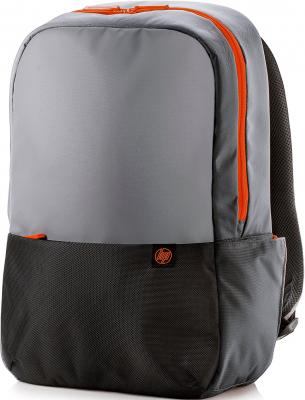 "цена Сумка для ноутбука 15.6"" HP Duotone Orange Backpack полиэстер серый черный Y4T23AA онлайн в 2017 году"