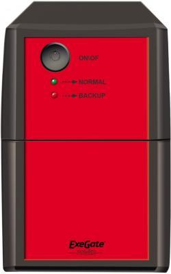 ИБП Exegate Power Back BNB-600 600VA Черный Красный аккумулятор для ибп exegate power exg6120 234537